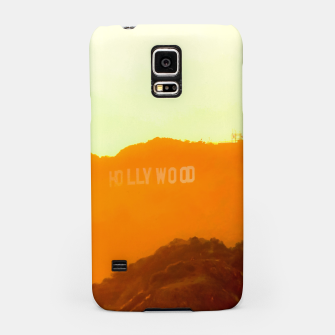 Thumbnail image of sunset sky in summer at Hollywood Sign, Los Angeles, California, USA Samsung Case, Live Heroes
