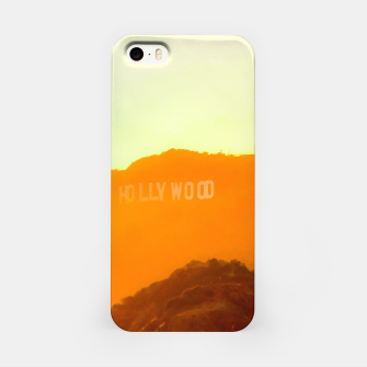 Thumbnail image of sunset sky in summer at Hollywood Sign, Los Angeles, California, USA iPhone Case, Live Heroes