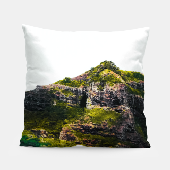 Miniatur green tropical mountains at Kauai, Hawaii, USA Pillow, Live Heroes