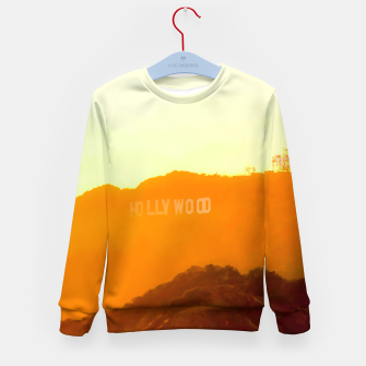 Thumbnail image of sunset sky in summer at Hollywood Sign, Los Angeles, California, USA Kid's sweater, Live Heroes