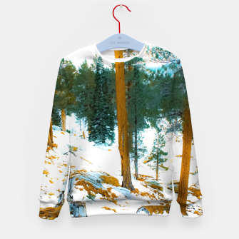 Miniature de image de green pine tree in winter with snow at Palm Springs Aerial Tramway, California, USA Kid's sweater, Live Heroes