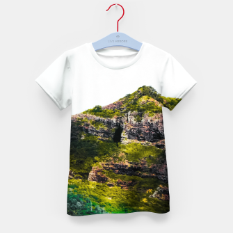 Miniatur green tropical mountains at Kauai, Hawaii, USA Kid's t-shirt, Live Heroes
