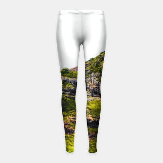 Miniatur green tropical mountains at Kauai, Hawaii, USA Girl's leggings, Live Heroes