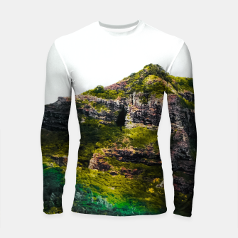 Miniatur green tropical mountains at Kauai, Hawaii, USA Longsleeve rashguard , Live Heroes