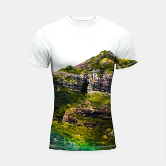 Miniatur green tropical mountains at Kauai, Hawaii, USA Shortsleeve rashguard, Live Heroes