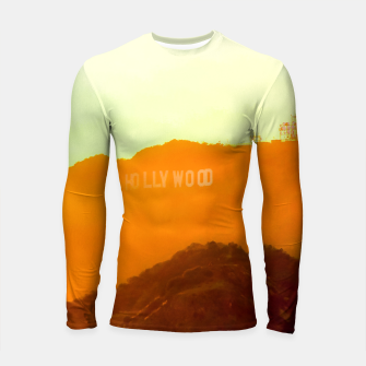 Thumbnail image of sunset sky in summer at Hollywood Sign, Los Angeles, California, USA Longsleeve rashguard , Live Heroes