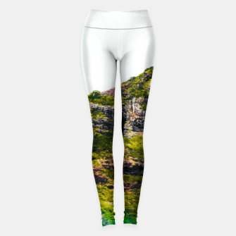 Miniatur green tropical mountains at Kauai, Hawaii, USA Leggings, Live Heroes