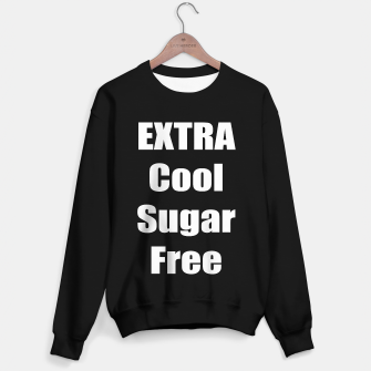 Miniatur Extra cool Sugar free, white text Sweater regular, Live Heroes