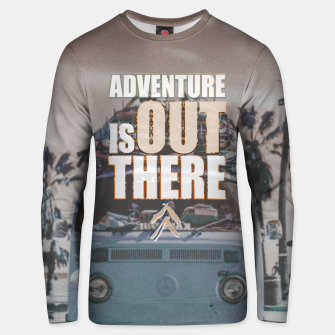 Thumbnail image of Adventure is out there Unisex sweater, Live Heroes