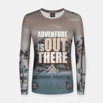 Miniaturka Adventure is out there Women sweater, Live Heroes