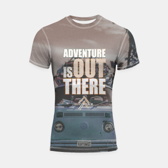 Thumbnail image of Adventure is out there Shortsleeve rashguard, Live Heroes