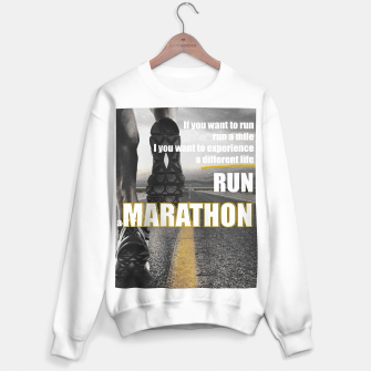 Thumbnail image of Sport quotes, running a marathon Sweater regular, Live Heroes