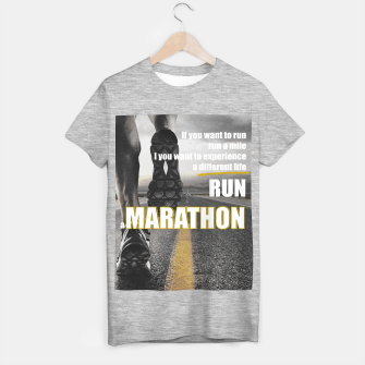 Thumbnail image of Sport quotes, running a marathon T-shirt regular, Live Heroes