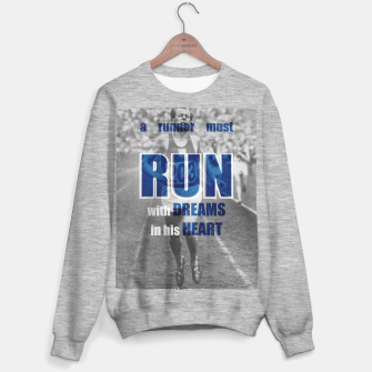 Thumbnail image of Sport quotes, olympic runners Sweater regular, Live Heroes