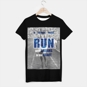 Thumbnail image of Sport quotes, olympic runners T-shirt regular, Live Heroes