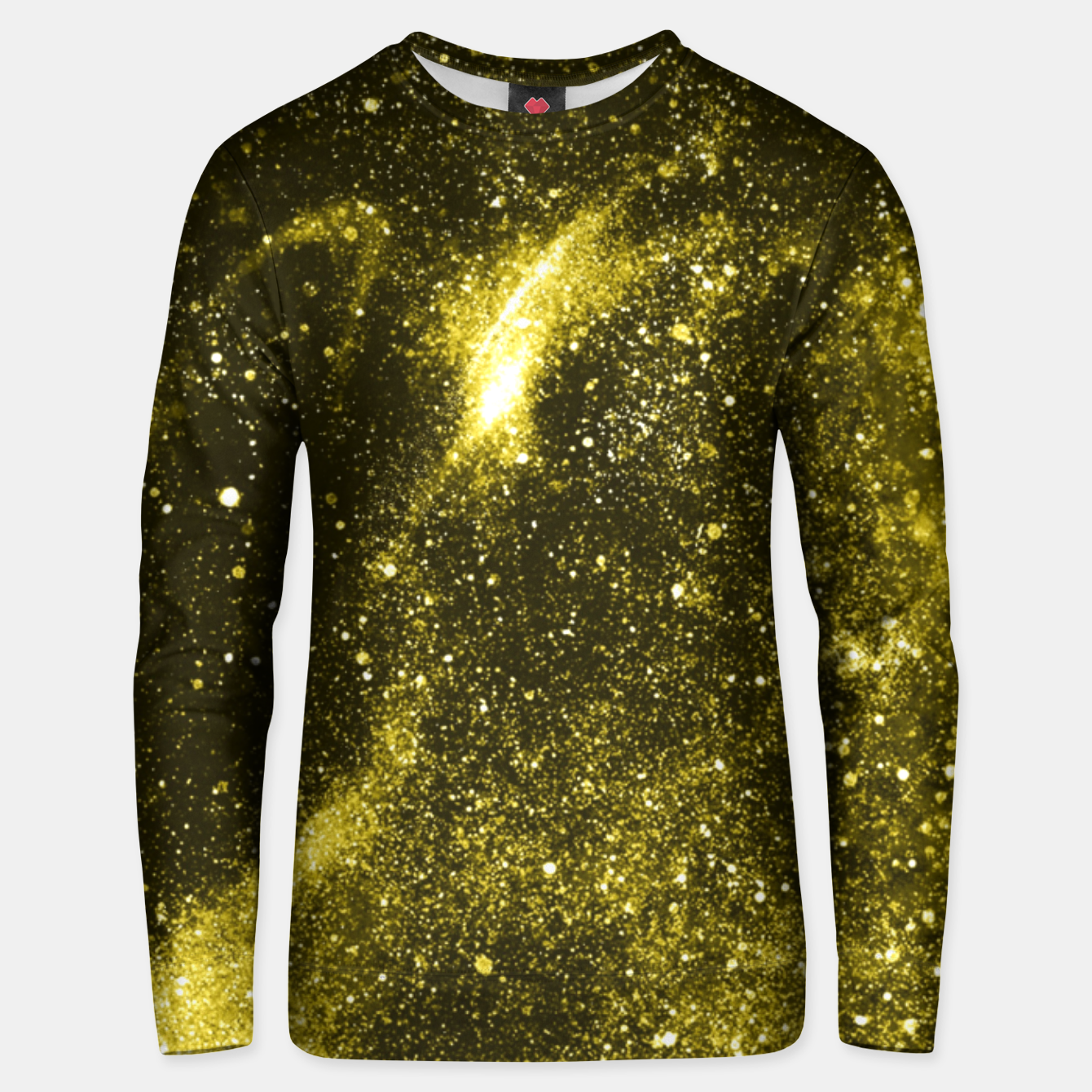 Image of Illuminating yellow abstract galaxy Unisex sweater - Live Heroes