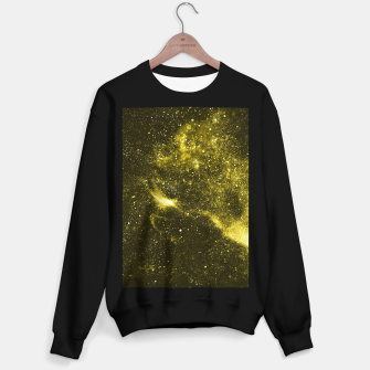 Illuminating yellow abstract galaxy Sweater regular thumbnail image