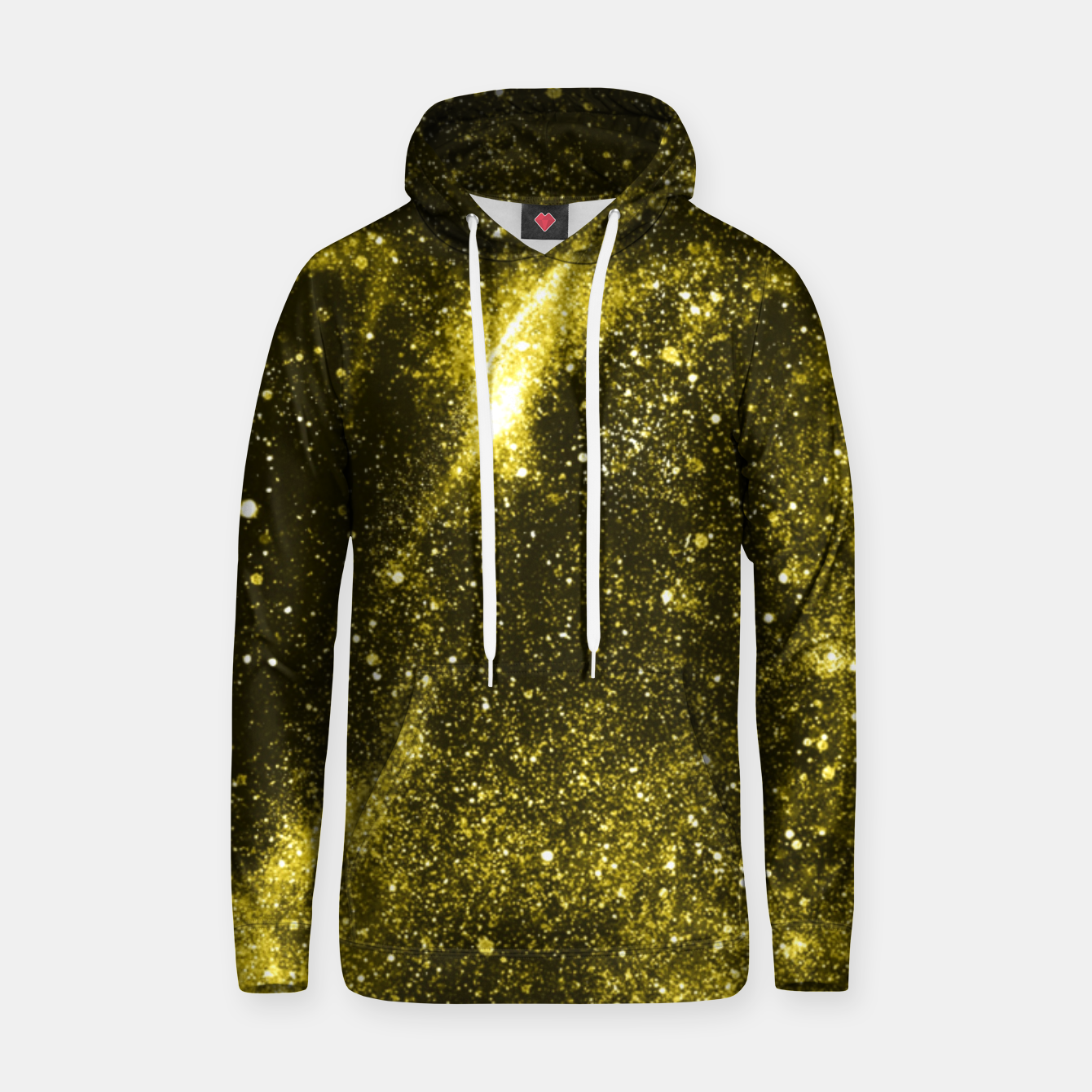 Image of Illuminating yellow abstract galaxy Hoodie - Live Heroes