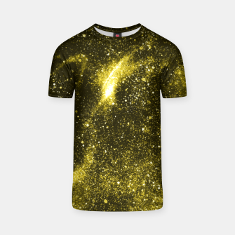 Miniaturka Illuminating yellow abstract galaxy T-shirt, Live Heroes