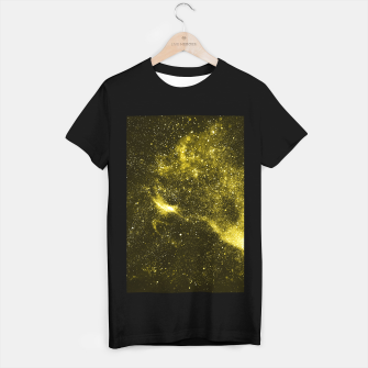 Miniaturka Illuminating yellow abstract galaxy T-shirt regular, Live Heroes