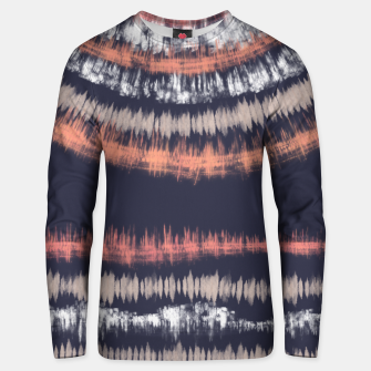 Miniatur Blue and coral tie dye B Sudadera unisex, Live Heroes