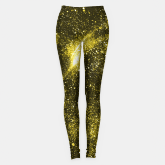 Illuminating yellow abstract galaxy Leggings thumbnail image