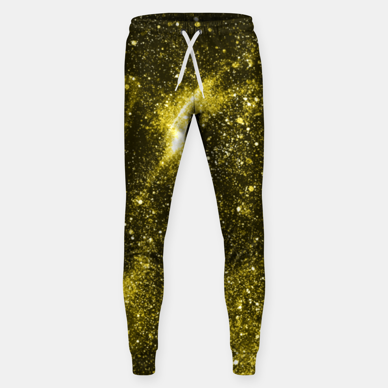 Image of Illuminating yellow abstract galaxy Sweatpants - Live Heroes