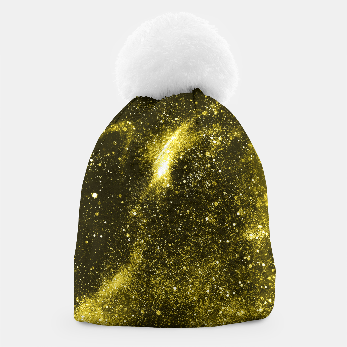 Image of Illuminating yellow abstract galaxy Beanie - Live Heroes