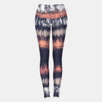 Thumbnail image of Blue and coral tie dye B Leggings, Live Heroes