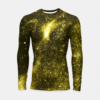 Thumbnail image of Illuminating yellow abstract galaxy Longsleeve rashguard , Live Heroes