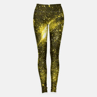 Miniaturka Illuminating yellow abstract galaxy Leggings, Live Heroes