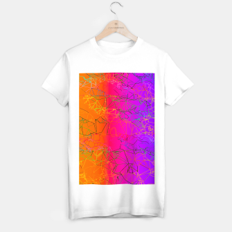 Thumbnail image of geometric line art abstract background in purple pink orange blue T-shirt regular, Live Heroes