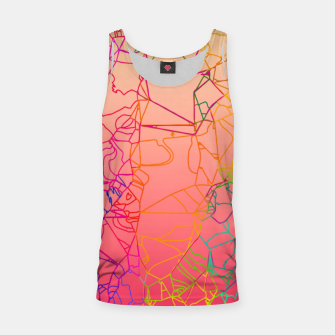 Thumbnail image of geometric line art abstract background in pink yellow green blue Tank Top, Live Heroes