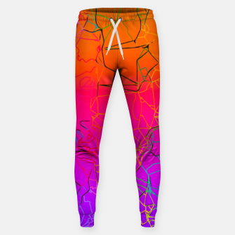 Thumbnail image of geometric line art abstract background in purple pink orange blue Sweatpants, Live Heroes
