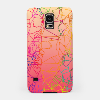 Thumbnail image of geometric line art abstract background in pink yellow green blue Samsung Case, Live Heroes
