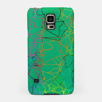 Thumbnail image of geometric line art abstract background in green yellow blue Samsung Case, Live Heroes