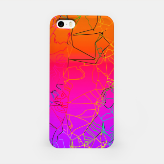 Thumbnail image of geometric line art abstract background in purple pink orange blue iPhone Case, Live Heroes