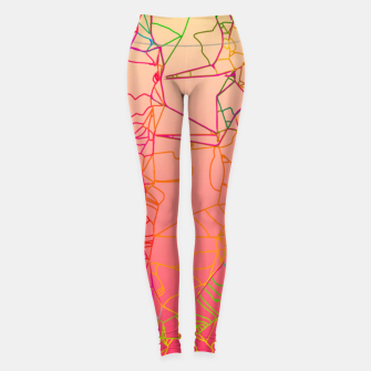 Thumbnail image of geometric line art abstract background in pink yellow green blue Leggings, Live Heroes