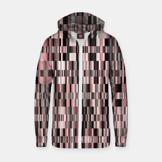 Thumbnail image of Screen glitch, geometric print, old tv design, abstract tech print Zip up hoodie, Live Heroes