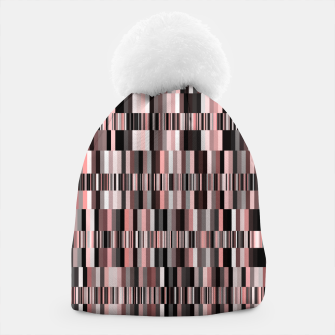 Thumbnail image of Screen glitch, geometric print, old tv design, abstract tech print Beanie, Live Heroes