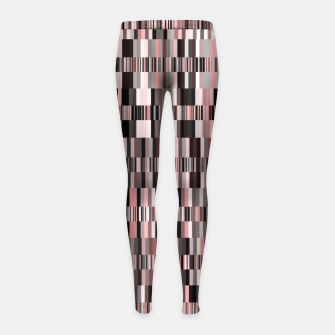 Thumbnail image of Screen glitch, geometric print, old tv design, abstract tech print Girl's leggings, Live Heroes