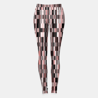 Thumbnail image of Screen glitch, geometric print, old tv design, abstract tech print Leggings, Live Heroes