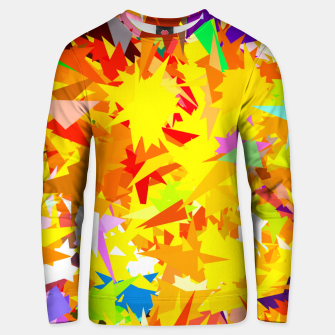 Thumbnail image of colorful geometric triangle abstract art background in yellow orange red green Unisex sweater, Live Heroes