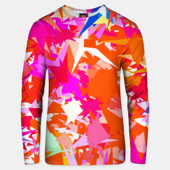Thumbnail image of colorful geometric triangle abstract art background in pink purple orange Unisex sweater, Live Heroes
