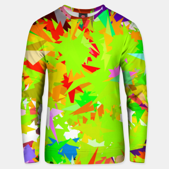 Thumbnail image of colorful geometric triangle abstract art background in green red yellow Unisex sweater, Live Heroes