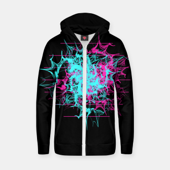 Tech Wave Zip up hoodie thumbnail image