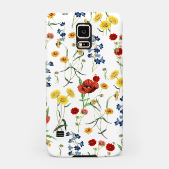 Miniatur Vintage Wildflowers Pattern on White Samsung Case, Live Heroes