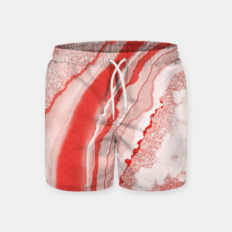 Thumbnail image of Coral Pink Agate Gem Abstract Swim Shorts, Live Heroes
