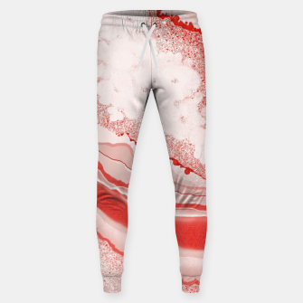 Thumbnail image of Coral Pink Agate Gem Abstract Sweatpants, Live Heroes