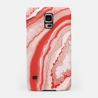 Thumbnail image of Coral Pink Agate Gem Abstract Samsung Case, Live Heroes